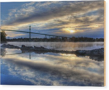 Thousand Islands Bridge Wood Print by Lori Deiter
