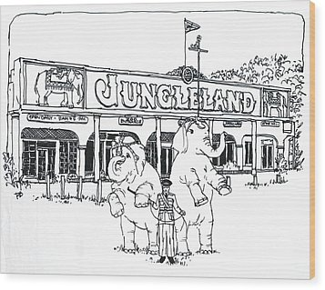 Thousand Oaks Ca Jungleland Wood Print