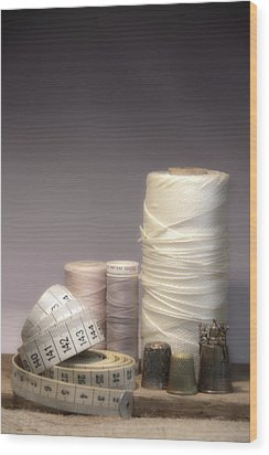 Thread And Twine Combine Wood Print by Taschja Hattingh