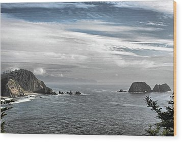 Three Arch Rocks National Wildlife Refuge Near Cape Meares Oregon Wood Print by Christine Till