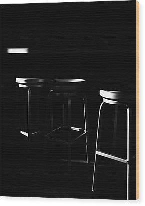 Wood Print featuring the photograph Three Barstool Sunrise by Bob Orsillo