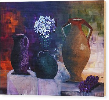 Wood Print featuring the painting Three Best Friends by Lisa Kaiser