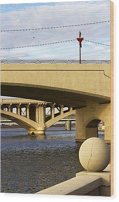 Wood Print featuring the photograph Three Bridges by Phyllis Denton