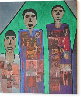 Three Brothers Wood Print by Russell Simmons