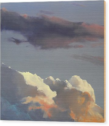 Three Clouds Sold Wood Print