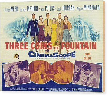 Three Coins In The Fountain, Clifton Wood Print by Everett