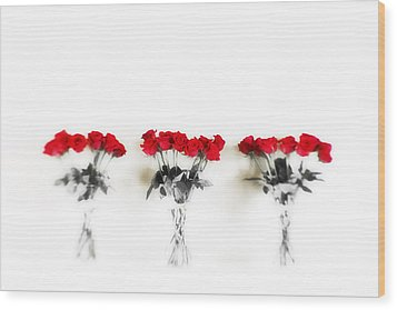 Three Dozen Roses Wood Print by Scott Pellegrin