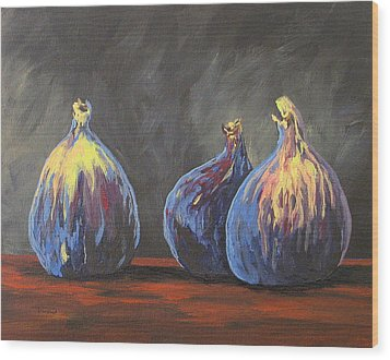 Three Figs Wood Print