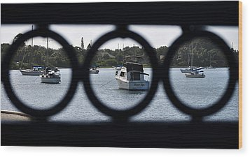 Wood Print featuring the photograph Three In One by John Knapko