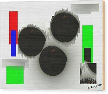 Three Is A Crowd Wood Print