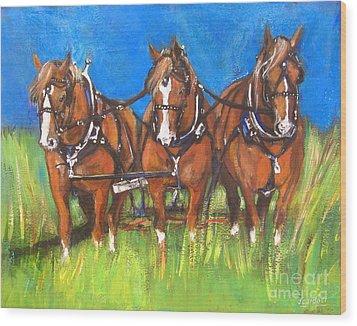 Three Is Company Wood Print by Debora Cardaci
