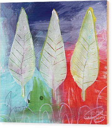 Three Leaves Of Good Wood Print