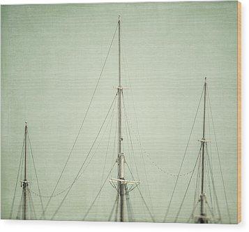 Three Masts Wood Print by Lisa Russo