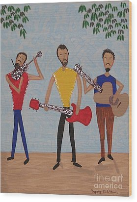 Three Musicians Wood Print by Gregory Davis