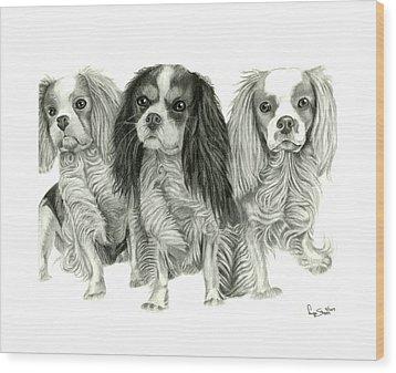 Three Musketeers Wood Print