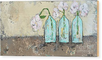 Three Of A Kind Wood Print by Kirsten Reed