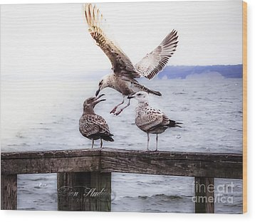 Three Of A Kind Wood Print by Melissa Messick