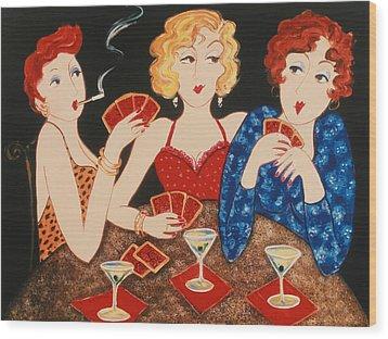 Three Of A Kind Wood Print by Susan Rinehart