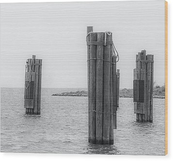 Three Pillars Wood Print