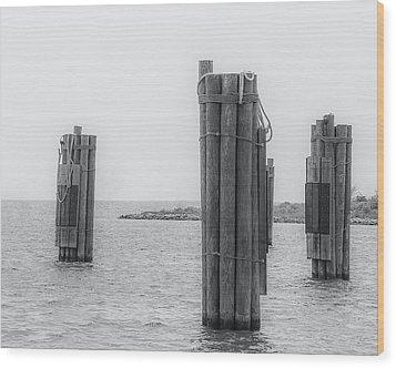 Three Pillars Wood Print