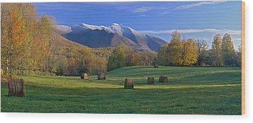 Three Seasons Mt. Mansfield Vermont Wood Print
