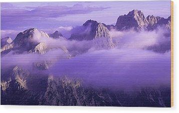 Three Summits. Julian Alps Wood Print by Konstantin Dikovsky