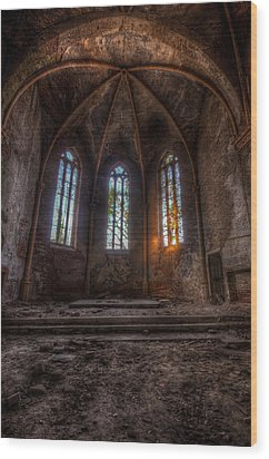Three Tall Arches Wood Print by Nathan Wright