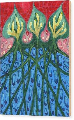 Three Wood Print by Wojtek Kowalski