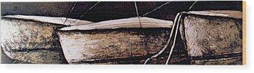 Threeinarow Wood Print by Julie Dalton Gourgues