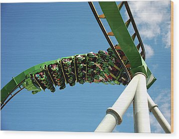 Thrill Ride Wood Print