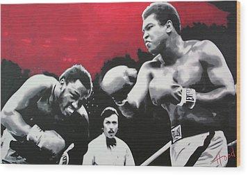 Thrilla In Manila Wood Print