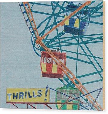 Thrills Wood Print