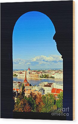 Through An Arch In Budapest Wood Print by Madeline Ellis