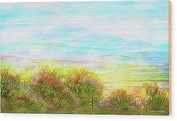 Through Mountain Mists Wood Print by Joel Bruce Wallach