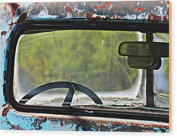 Through The Back Window- Antique Chevrolet Truck- Fine Art Wood Print