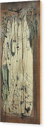 Through The Cracks Wood Print by Konrad Geel