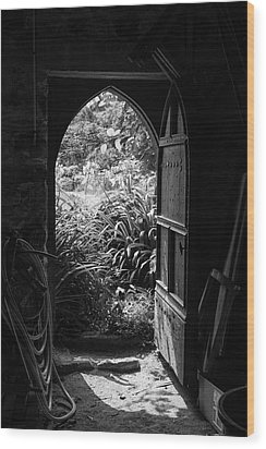 Wood Print featuring the photograph Through The Door by Clare Bambers