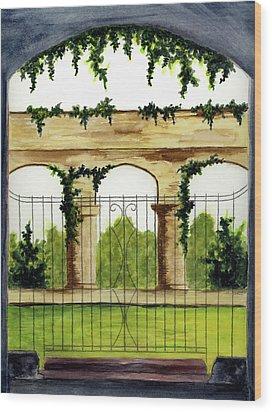 Through The Gates Wood Print by Michael Vigliotti