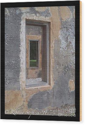 Through The Horton Window Wood Print by Rebecca Stephens