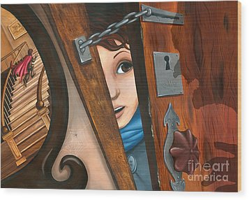 Through The Keyhole Wood Print by Denise M Cassano