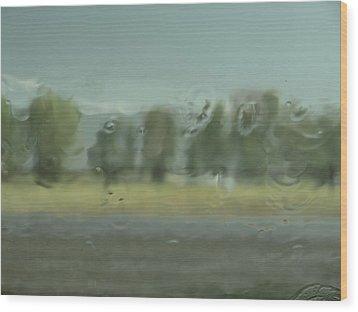 Through The Rain Wood Print by DeeLon Merritt