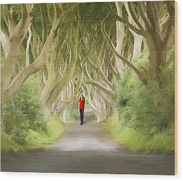 Through The Trees Wood Print by Roy  McPeak
