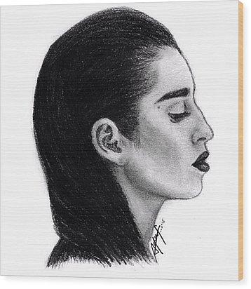Lauren Jauregui Drawing By Sofia Furniel Wood Print