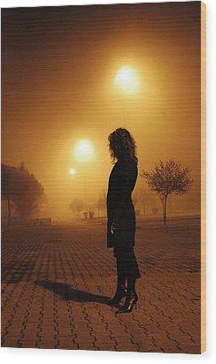 Thru The Fog Wood Print by Diego Bonomo