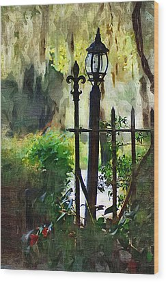 Wood Print featuring the digital art Thru The Gate by Donna Bentley