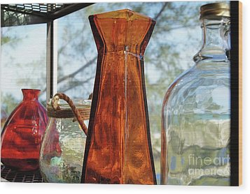 Thru The Looking Glass 1 Wood Print by Megan Cohen