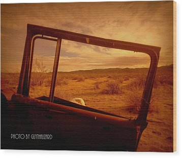 Thruthewindow Wood Print by Guy Hoffman