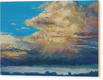 Thundeclouds Wood Print by Billie Colson