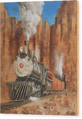 Thunder In Cathedral Canyon Wood Print by Christopher Jenkins