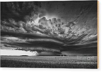 Thunder On The Prairies Wood Print by Dan Jurak